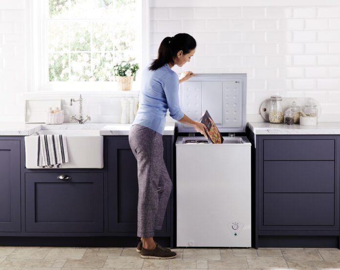 chest freezer in the kitchen